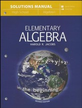 Elementary Algebra Solutions Manual
