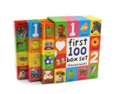 First 100 Board Book Box Set, 3 Books