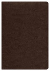 ESV Study Bible--genuine cowhide leather, deep brown