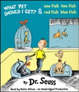 What Pet Should I Get? And One Fish Two Fish Red Fish Blue Fish unabridged audiobook on CD