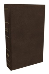 NKJV Comfort Print Preaching Bible, Premium Calfskin Leather, Brown