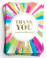 Rays of Thanks, Blank Thank You Note Cards,   Box of 10