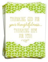 Thanking Him for You, 10 Blank Thank You Note Cards