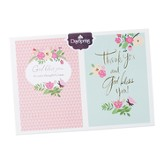 Classy Floral, 12 Blank Thank You Note Cards