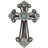 Budded Wall Cross, Turquoise