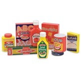 Dry Goods Set Wooden Pantry Products