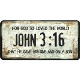 For God So Loved the World License Plate