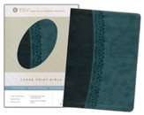 ESV Large Print Bible  TruTone, Black/Spruce, Garland Design