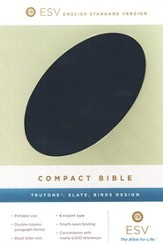 ESV Compact Bible (TruTone, Slate, Birds Design) - Imperfectly Imprinted Bibles