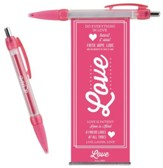 Love Pull-Out Banner Pen, Pink