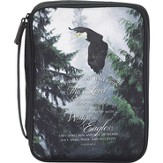 Wings As Eagles Bible Cover, Black, Medium