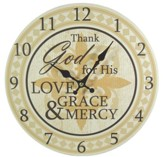 Thank God For His Love Wall Clock, Canvas