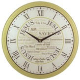 Names Of Jesus Wall Clock, Glass