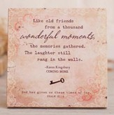 Wonderful Moments Plaque