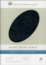 ESV Giant Print Bible Genuine Leather, Black - Slightly Imperfect