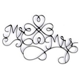 Mr. and Mrs. Wire Wall Plaque