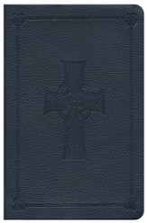 ESV Compact Bible, Blue TruTone with Celtic Cross Design