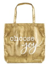 Choose Joy Tote Bag, Gold