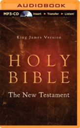 KJV New Testament - unabridged audiobook on MP3-CD