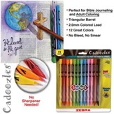 Cadoozles Mechanical Colored Pencils, Zebra, Pack of 12