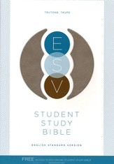 ESV Student Bible TruTone Taupe - Slightly Imperfect