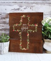 Grow In Grace, Cross, Wall SiGN