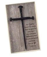 The Cross Of Nails, John 3:16, Wall Art