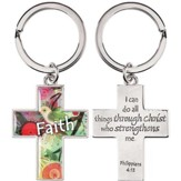 Cross, Faith Keyring