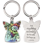 Angel, Pray Keyring