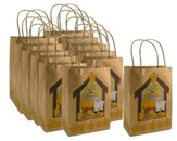 God's Gift Brown Paper Gift Bag, 1 Dozen