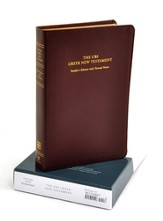 UBS Greek New Testament: Reader's Edition with Textual Notes, Genuine Leather, burgundy