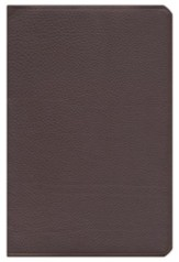 ESV Large Print Thinline Reference Bible Top Grain Leather Dark Brown