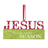 Jesus is the Reason for the Season, Wood Ornament