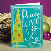 Peace Love Joy Christmas Cards, Package of 25