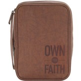 Own Your Faith Bible Cover, Brown, Large