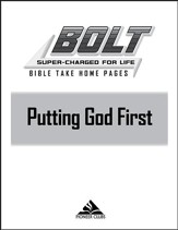 BOLT Putting God First: Take Home Pages, 10 pack