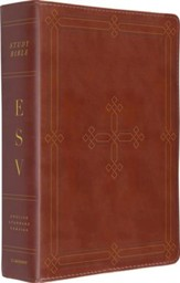 ESV Study Bible, Brown imitation leather with engraved cross design