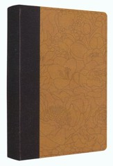 ESV Personal Reference Bible, coffee/goldenrod imitation  leather with bouquet design