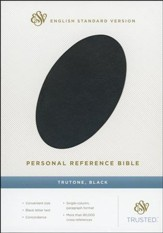 ESV Personal Reference Bible, Black imitation leather