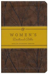 ESV Women's Devotional Bible, TruTone, Brown with Birch Design