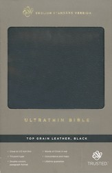 ESV UltraThinline Bible--genuine leather, black