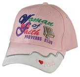 Woman of Faith Cap, Proverbs 31:30, Pink