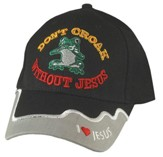 Don't Croak Without Jesus Cap, Black