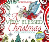 A Very Blessed Christmas Coloring Book: With Illustrated Scripture And Quotes... - Slightly Imperfect