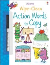 Usborne Wipe-Clean: Action Word to  Copy