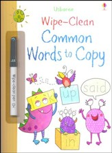 Usborne Wipe-Clean: Common Words to  Copy