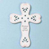 Precious Child Of God Wall Cross, Pink