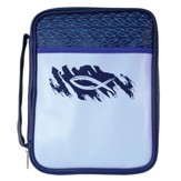 Fish Bible Cover, Blue, Large