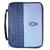 Multiple Fish Bible Cover, Blue, Large