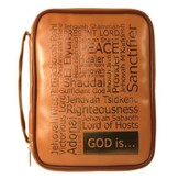 God Is Bible Cover, Brown, Large
